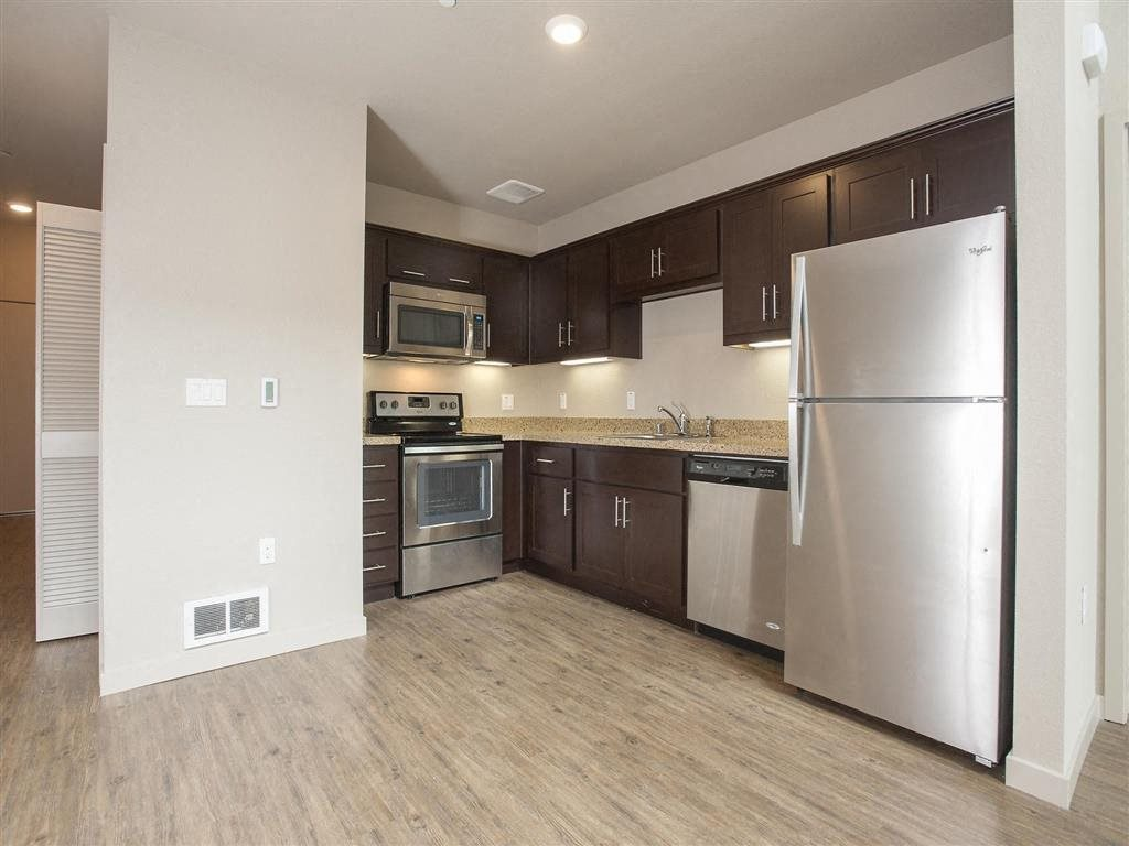 Kitchen l Brand New Apartments for Rent in Oakland, Ca | Mason at Hive Apartments Now Leasing