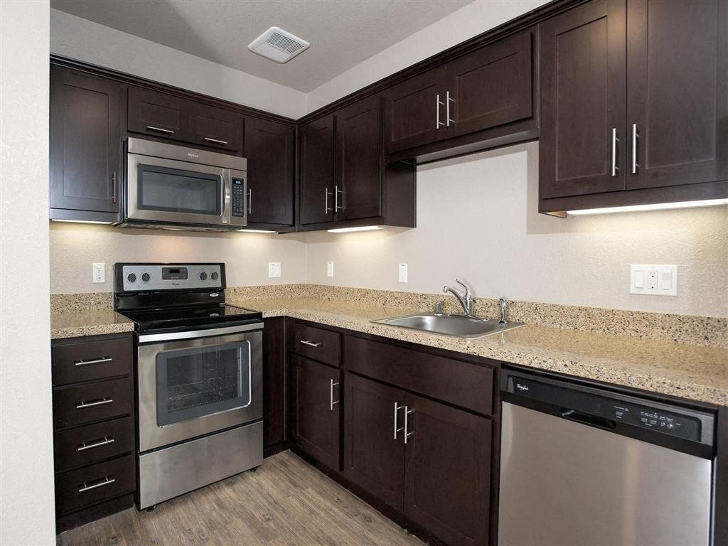 Kitchen l Brand New Apartments for Rent | Mason at Hive Apartments in Oakland, CA Now Leasing