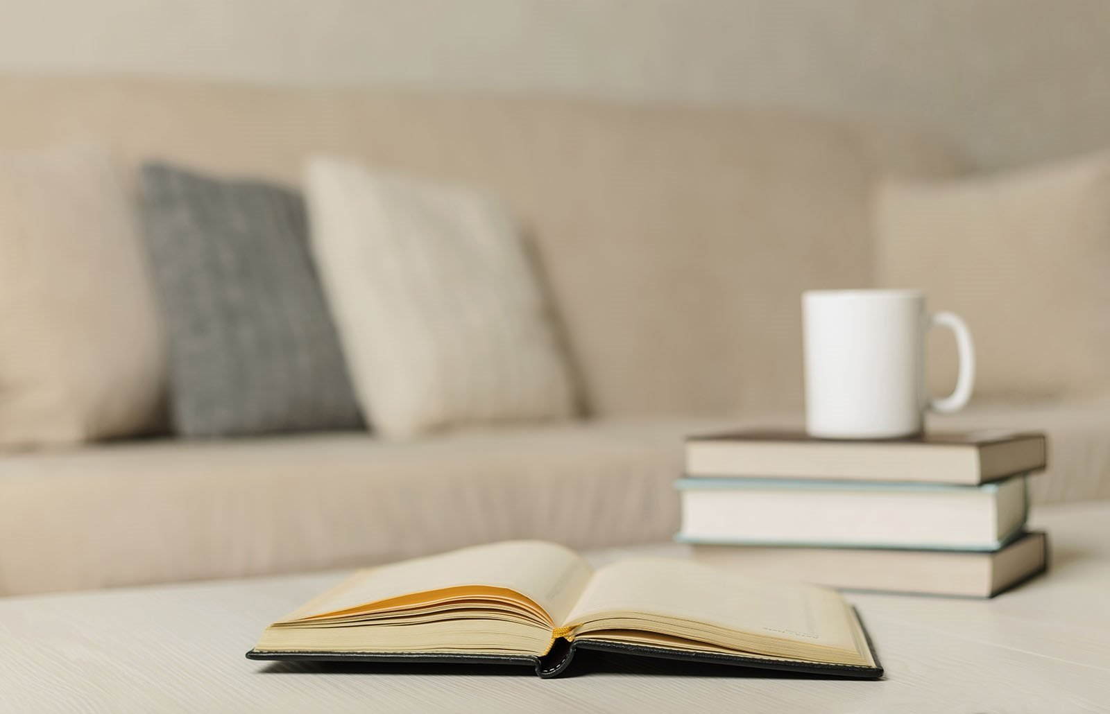 Stock image of couch and table