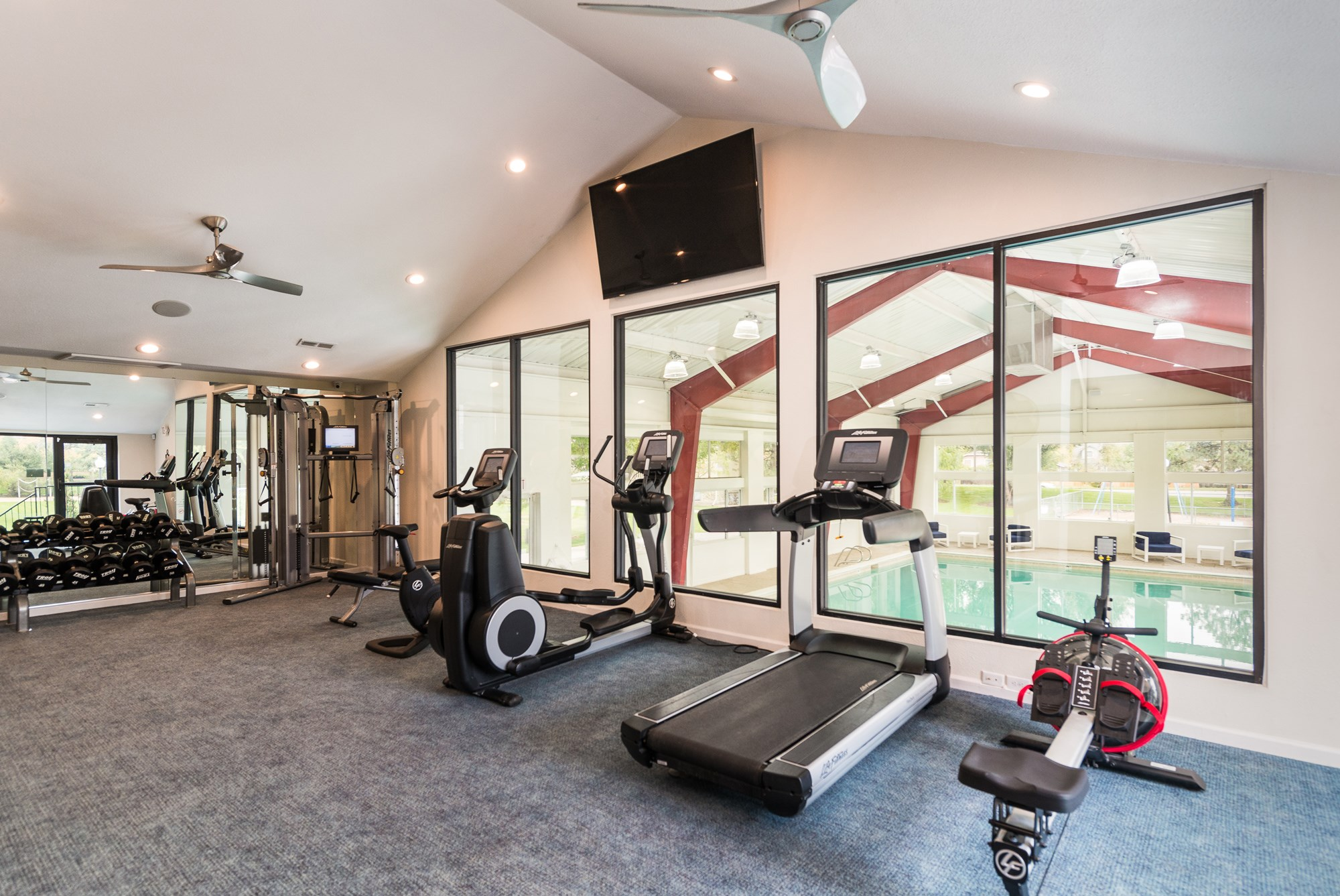 Fitness Center at Village Gardens Apartments in Fort Collins, CO