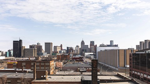 terrace view at The Assembly, Detroit, Michigan