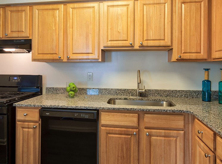 Kitchen at The Courts at Yorkshire Downs Apartments