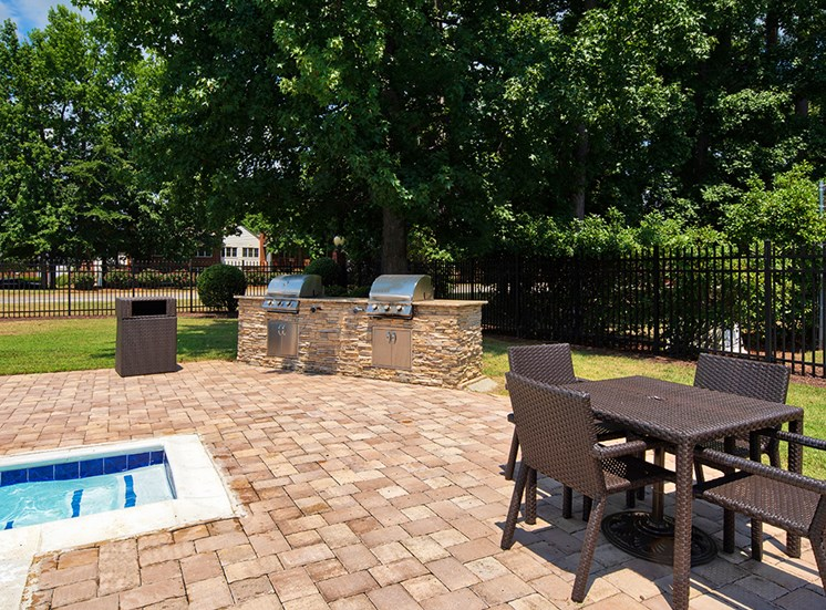 Grill area at The Courts at Yorkshire Downs Apartments