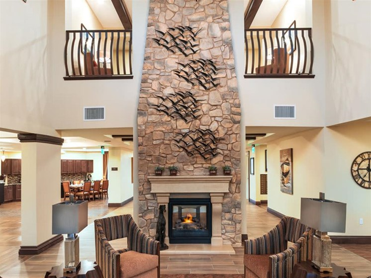 Lounge Area With Fireplace at Mariposa at Ellwood Shores, Goleta, CA