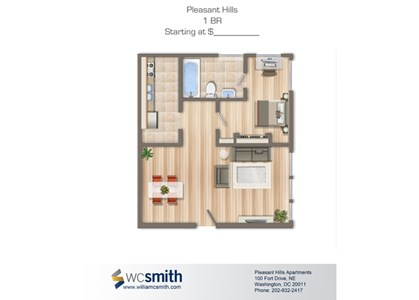 600-Square-Foot-One-Bedroom-Apartment-Floorplan-Available-For-Rent-Pleasant-Hills-Village