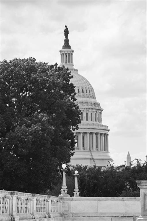 Black-and-White-Photo-of-US-Capitol