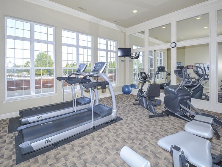 Cardio and Strength Training Equipment at the Fitness Center