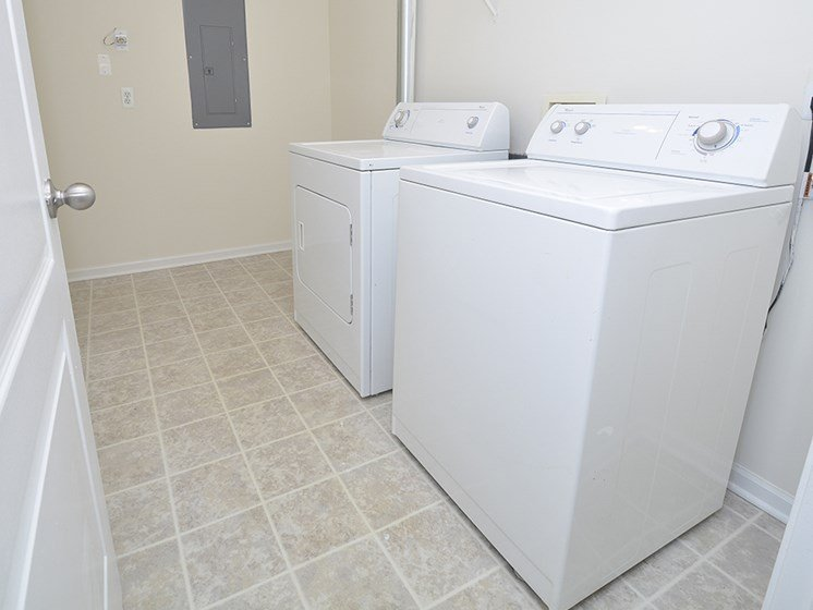 Large Walk-In Closet with Washer and Dryer