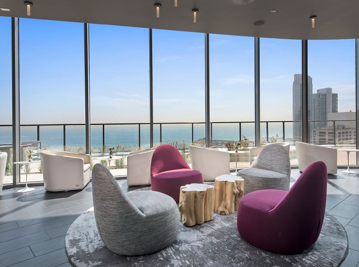 Lovely Sea Views from Lounge at 1001 South State, Chicago, IL, 60605