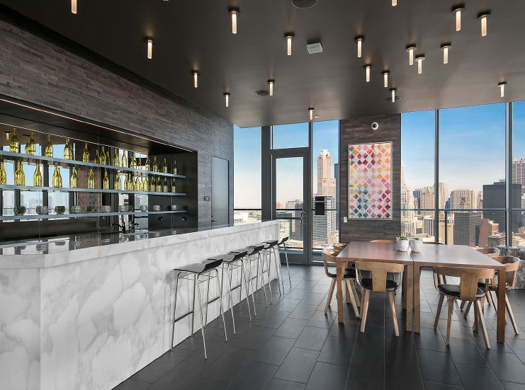 Clubhouse with Upgraded Interiors at 1001 South State, Chicago, IL