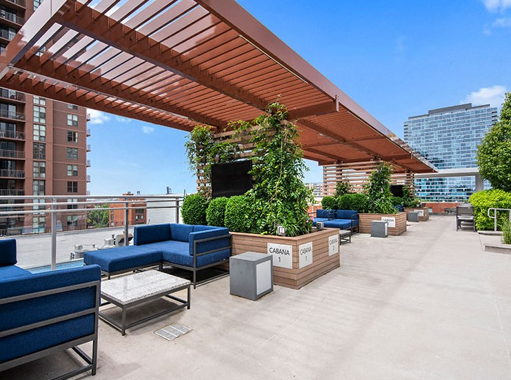 Relaxing Cabana with TV at 1001 South State, Illinois, 60605
