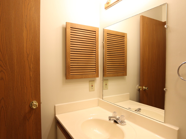 Image of master bathroom with vanity and medicine cabinet