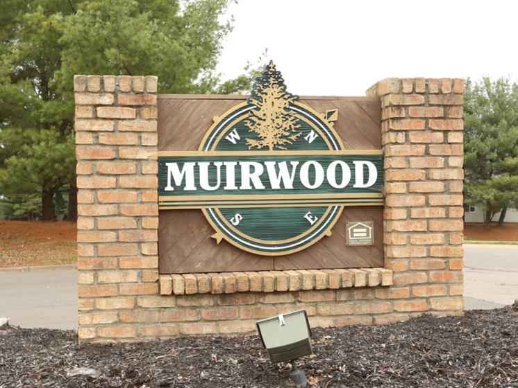 Image of brick Muirwood sign