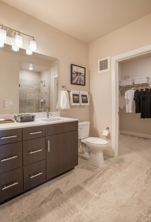 Bathroom at Union West Apartments in Lakewood, CO