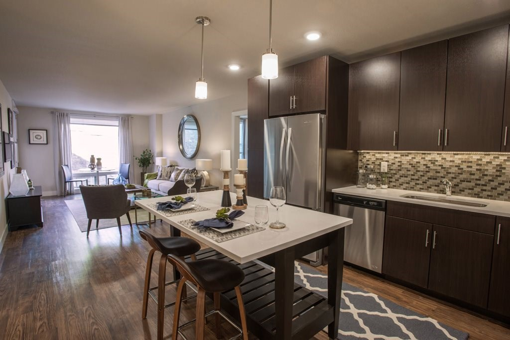 Open Living Spaces at Union West Apartments in Lakewood, CO