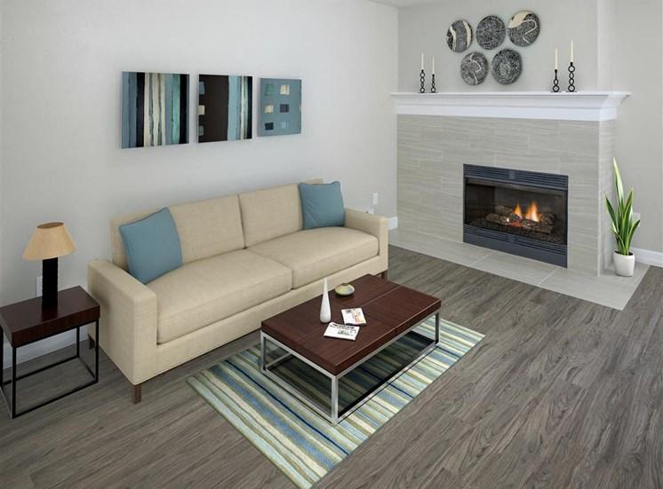 Parkridge Apartments, Lake Oswego, 97035 have Living Room with Wood-burning Fireplaces