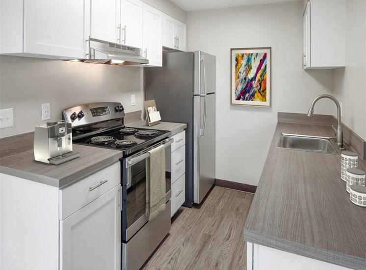 All Electric Kitchen at Parkridge Apartments, Oregon