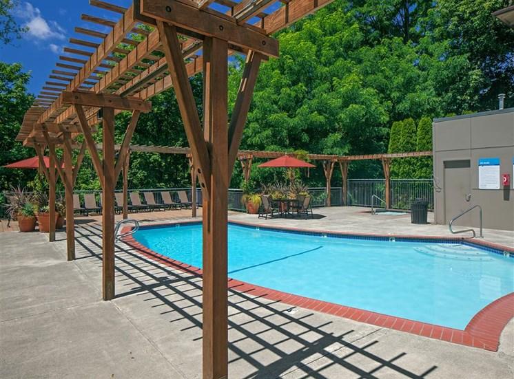 Sparkling Swimming Pool at Parkridge Apartments, Lake Oswego, OR