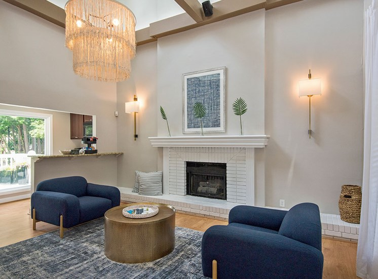 Club room at Sommerset Place Apartments in Raleigh NC