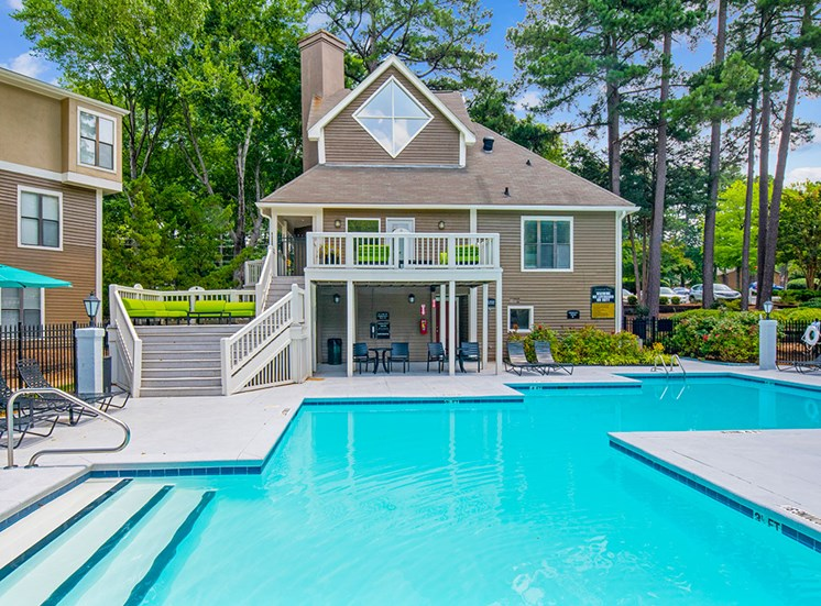 Pool at  Sommerset Place Apartments in Raleigh