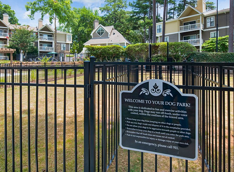 Dog Park at Sommerset Place Apartments in Raleigh NC