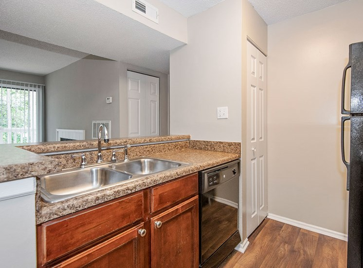 Sink in kitchen at Sommerset Place Apartments