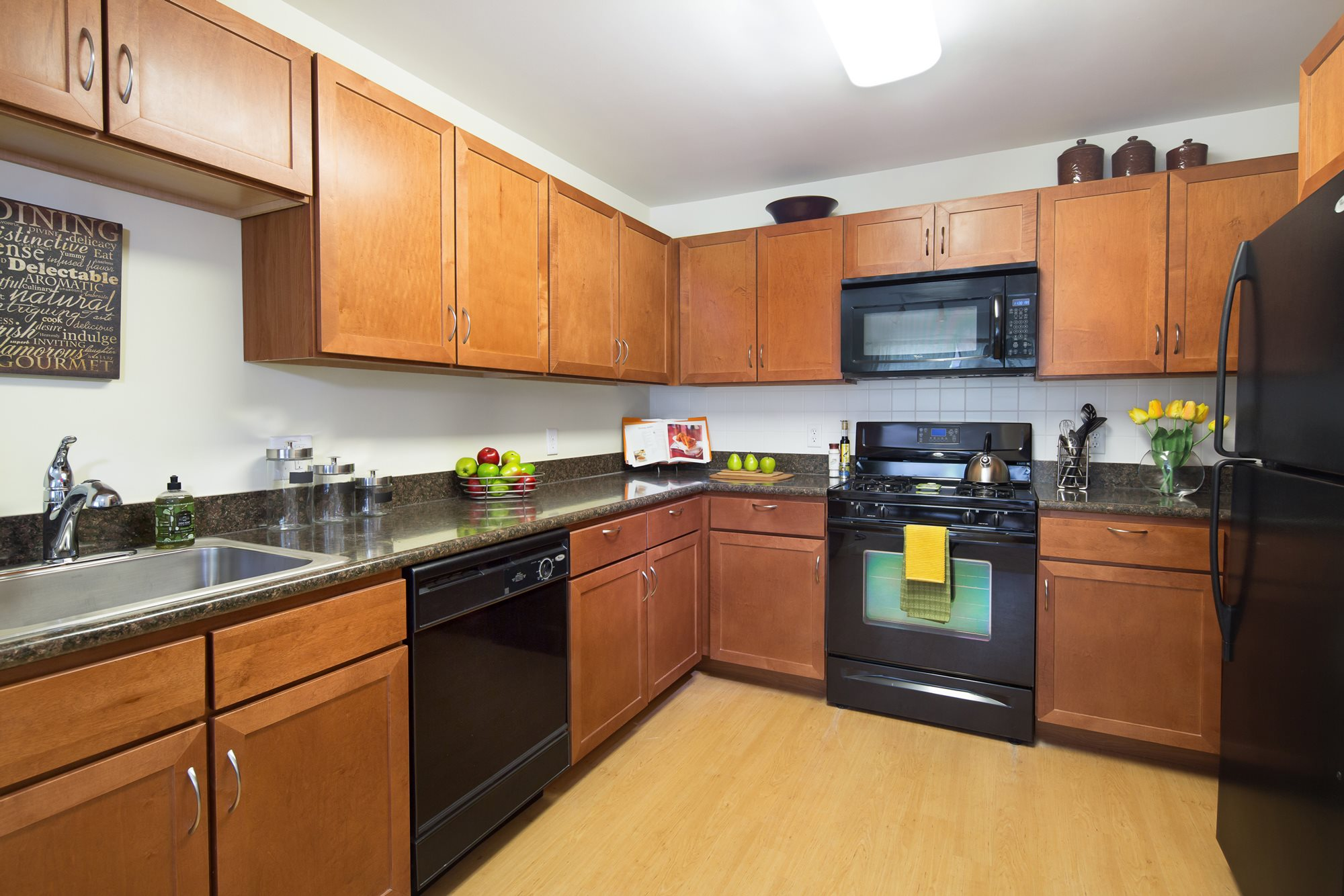 Kitchen at Huntington Townhomes in Shelton, CT