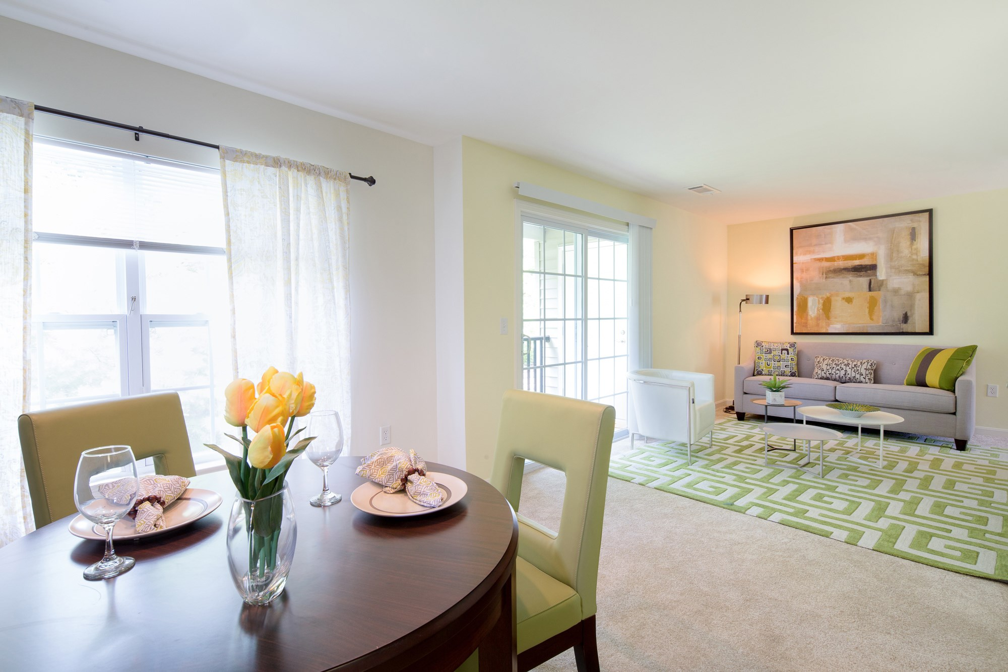 Living Room at Huntington Townhomes in Shelton, CT