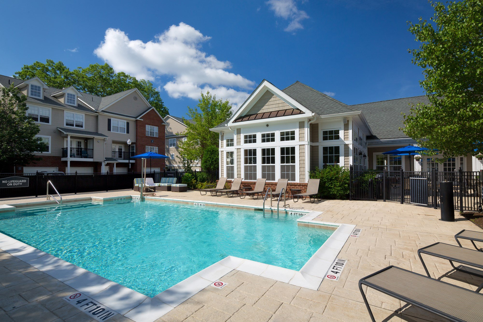 Swimming Pool at Huntington Townhomes in Shelton, CT