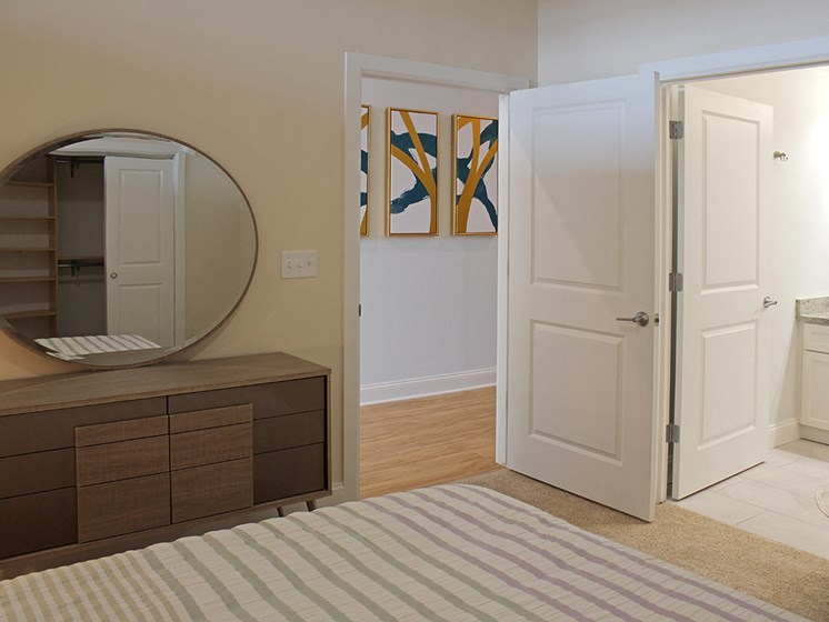 Comfortable Bedroom With Accessible Closet at Residences at Halle, Cleveland, 44113