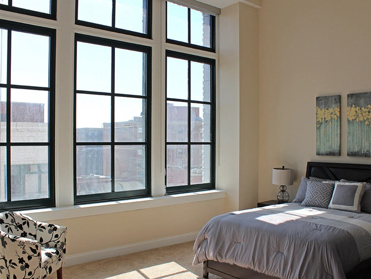 Bedroom With Plenty Of Natural Lights at Residences at Halle, Cleveland, OH