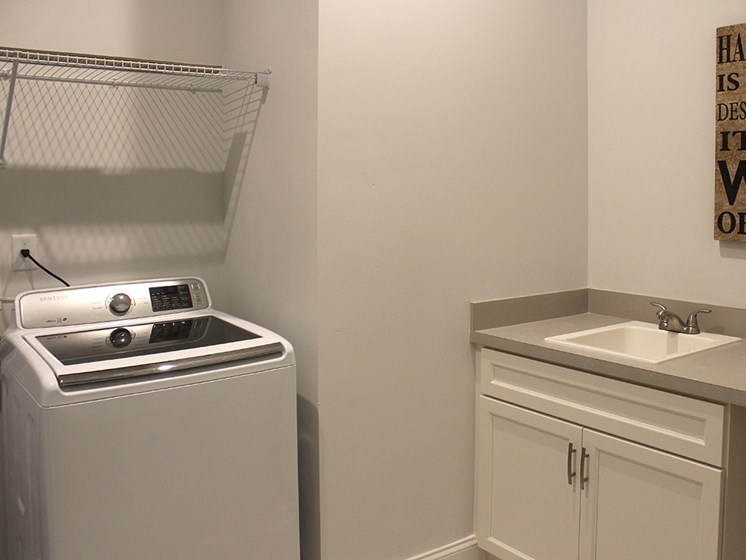 Modern Laundry Room at Residences at Halle, Cleveland, OH, 44113