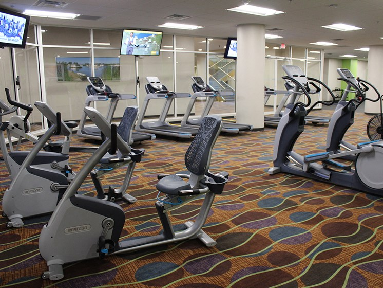 Beautiful Fitness Center at Residences at Halle, Cleveland, OH