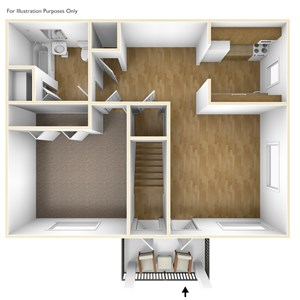 Two Bedroom Apartment Floor Plan Pheasant Hill Estates