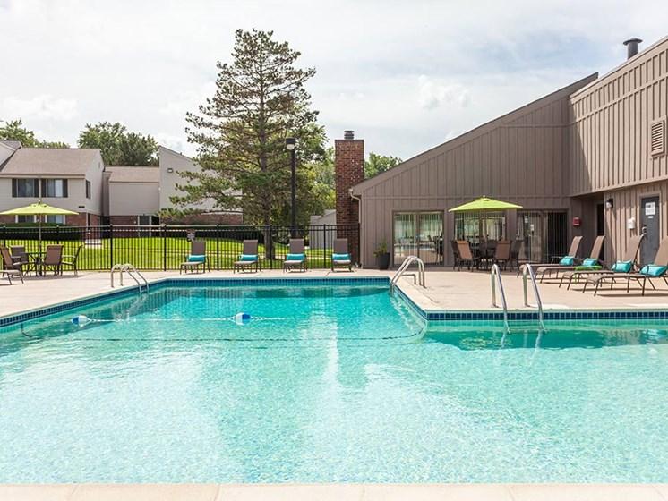Poolside Sundeck and Grilling Area, at Northville Woods, Northville, 48168