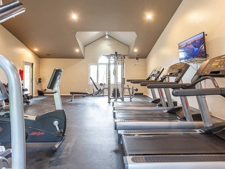 Fitness Center With Modern Equipment, at Northville Woods, Michigan, 48168