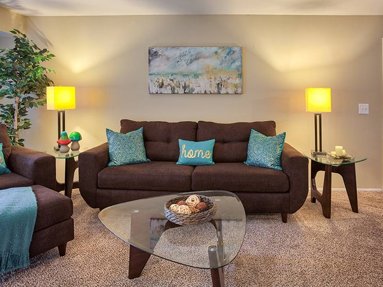 Cozy Living Room, at Northville Woods, Northville, 48168