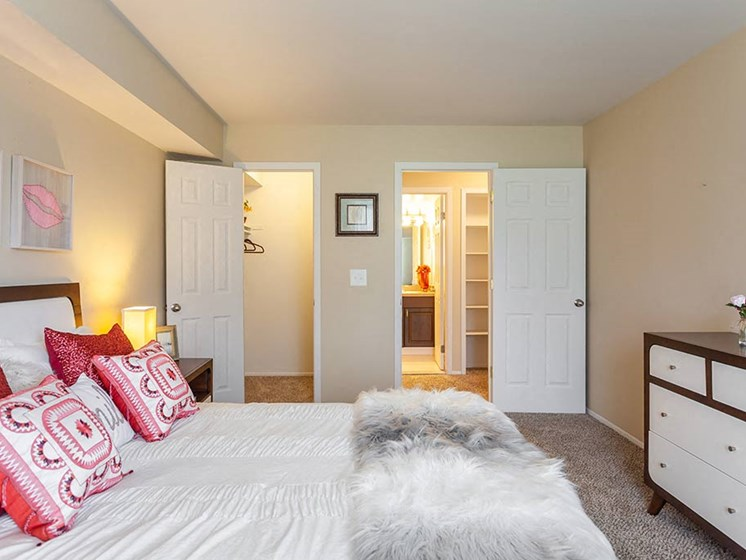 Large Closets in Bedrooms, at Northville Woods, Northville Michigan