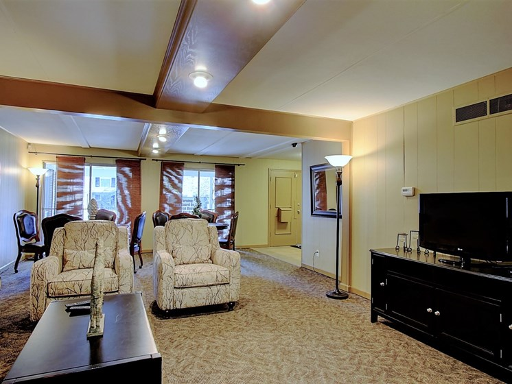 Image of clubhouse with furniture