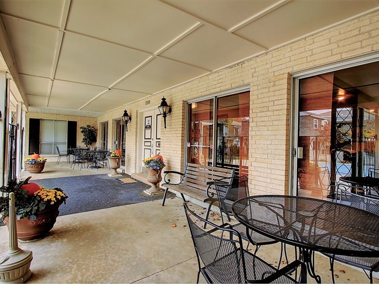 Image of patio with furntiure