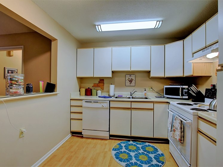 Image of kitchen with  cabinets and appliances