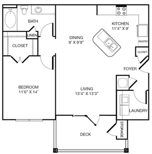 Harbor Creek Reimagine A Floor Plan 1 Bedroom 1 Bath