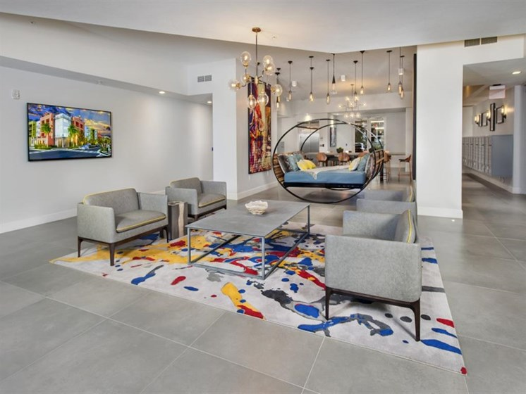 Expansive and Modern Clubhouse at SofA Downtown Luxury Apartments, Delray Beach, FL 33483