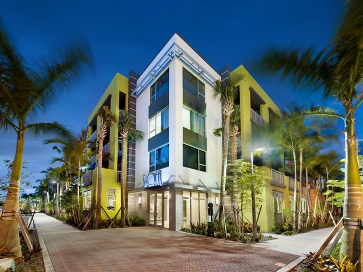 Private Gated Community at SofA Downtown Luxury Apartments, Delray Beach,Florida