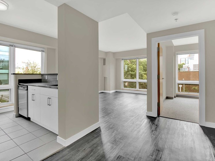 Open floor plans and lots of light with oversized windows