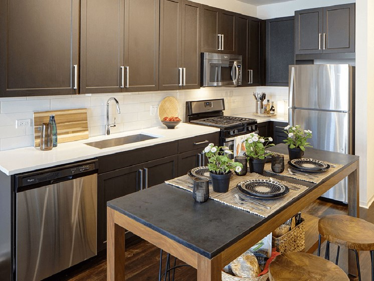 Eat-in Kitchens at Courthouse Square Apartments, Wheaton, 60187