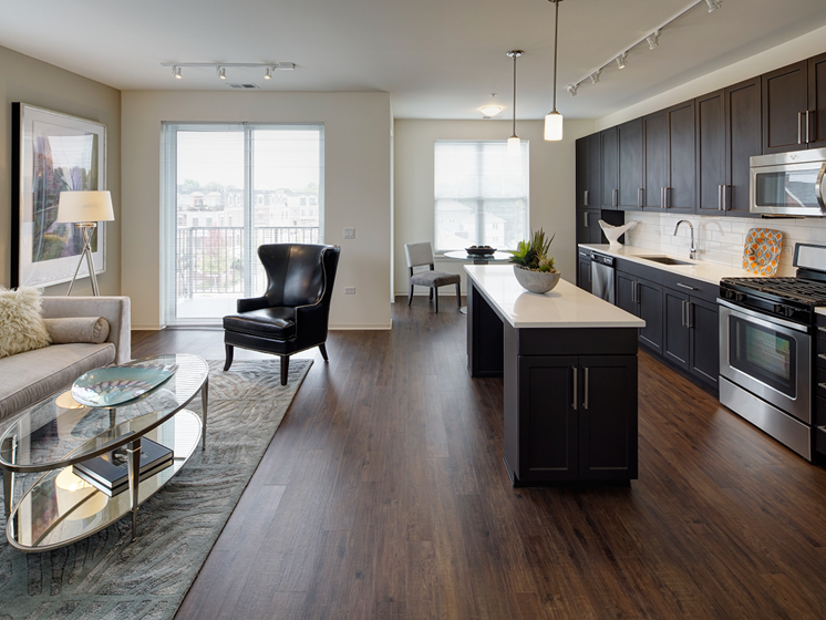 Open Floor Plan at Courthouse Square Apartments, Wheaton, 60187