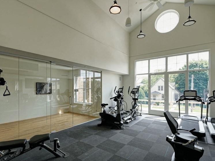 Fitness Studio  at Courthouse Square Apartments, Wheaton, 60187