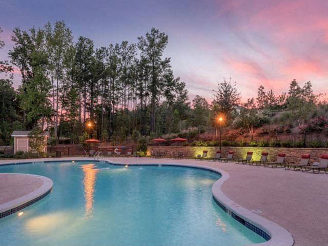 Resort-Inspired Saline Swimming Pool with Lounge Chairs and WiFI Hotspot at Ashby at Ross Bridge, Hoover, AL 35226