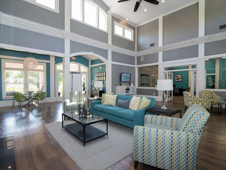 Stunning Modern Design Community Clubhouse with Ample Space and Amenities at Autumn Park Apartments, Charlotte, NC 28262